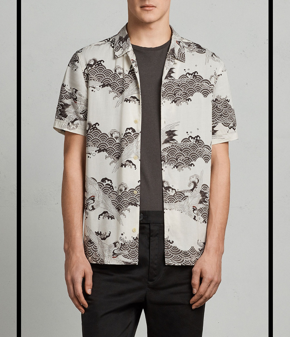 All Saints men's Hawaiian shirt