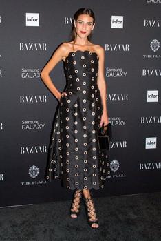 Model Alexa Chung wearing Osman, 2015