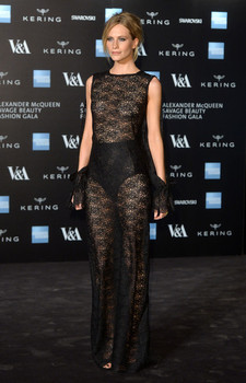 Model Poppy Delevingne, wearing Osman to the V&A Gala, 2015