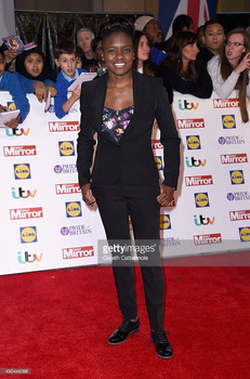 Olympic boxer Nicola Adams wearing Ted Baker to the Pride of Britain Awards, 2016