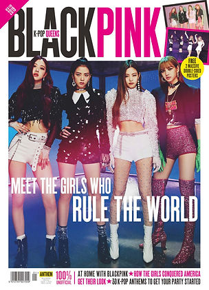 Black pink fan magazine cover