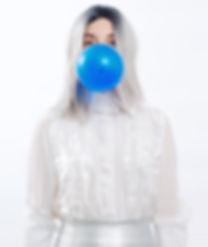 Fashion stylist, editorial photograph, model, bubble