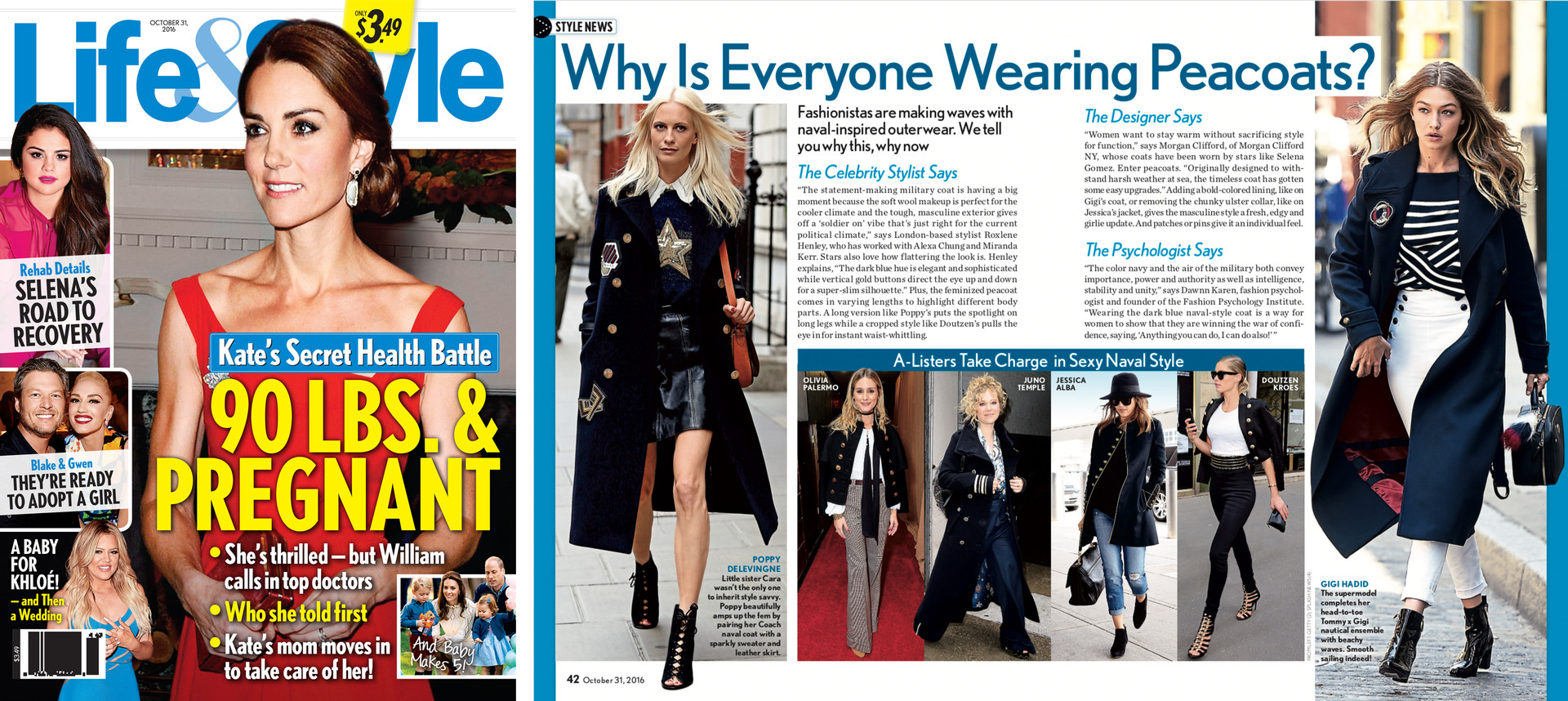 Life&Style Peacoats feature