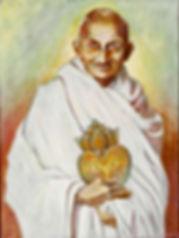 Mahatma Gandhi Sacred Heart Painting