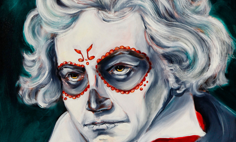 SOLD Ludwid van Beethoven, Dia de Los Muertos