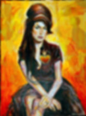 Amy Winehouse Sacred Heart Painting