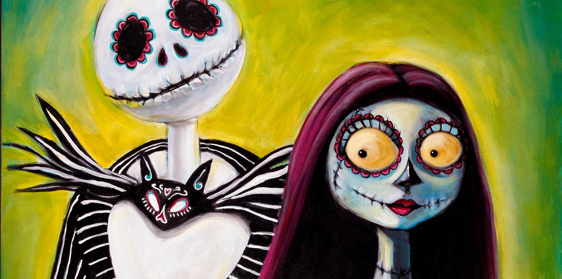 SOLD Jack and Sally, Dia de Los Muertos