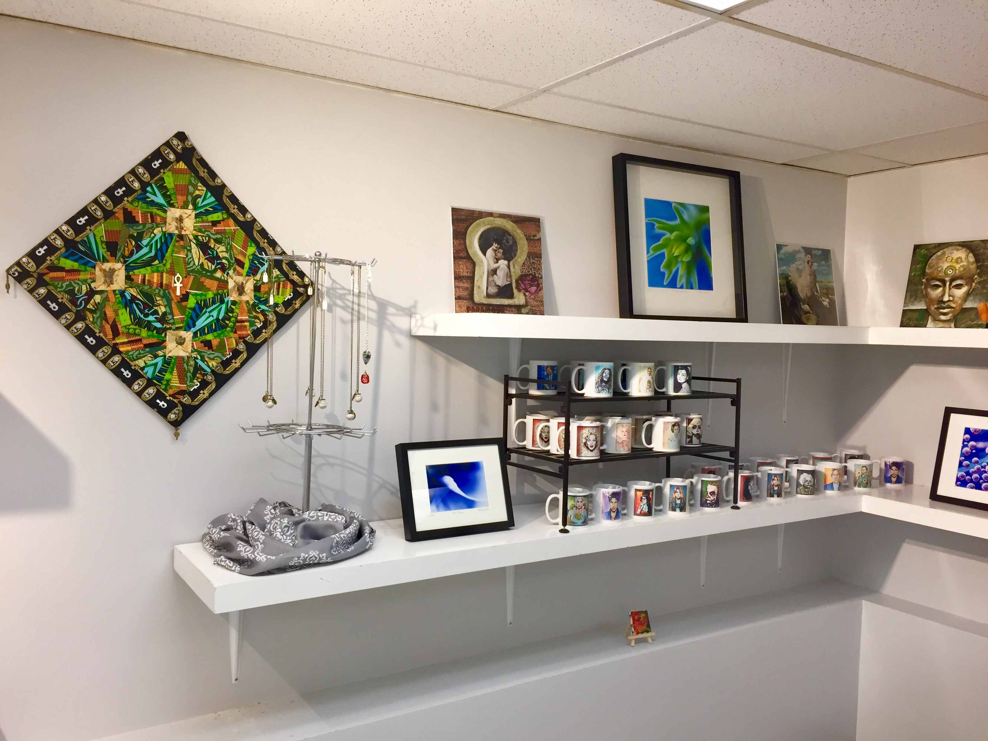 A view of the gift shop.