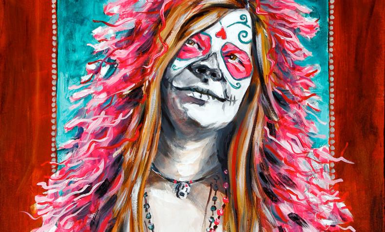 SOLD. Janis Joplin, Dia de Los Muertos