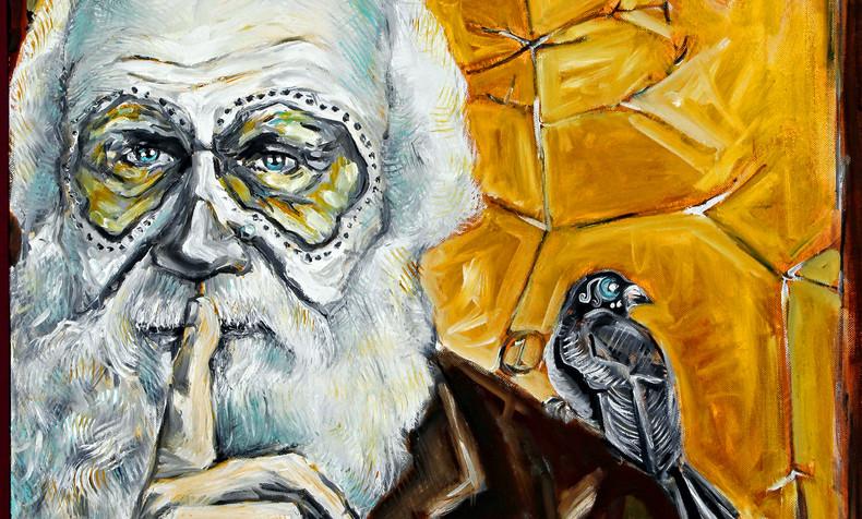 SOLD Charles Darwin, Dia de Los Muertos