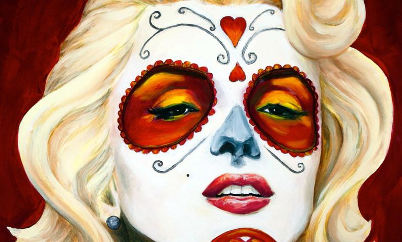 SOLD. Marylin Monroe, Dia de Los Muertos