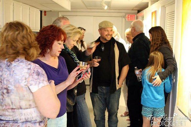 Opening night at HeARTspot Art Center an