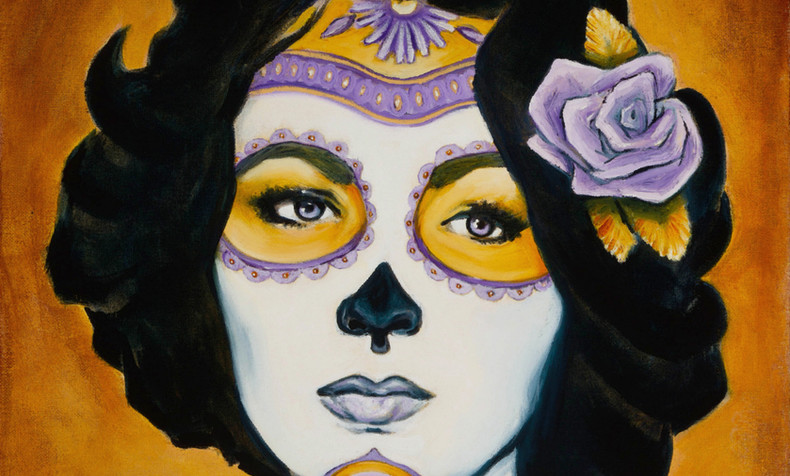 SOLD. Elizabeth Taylor, Dia de Los Muertos