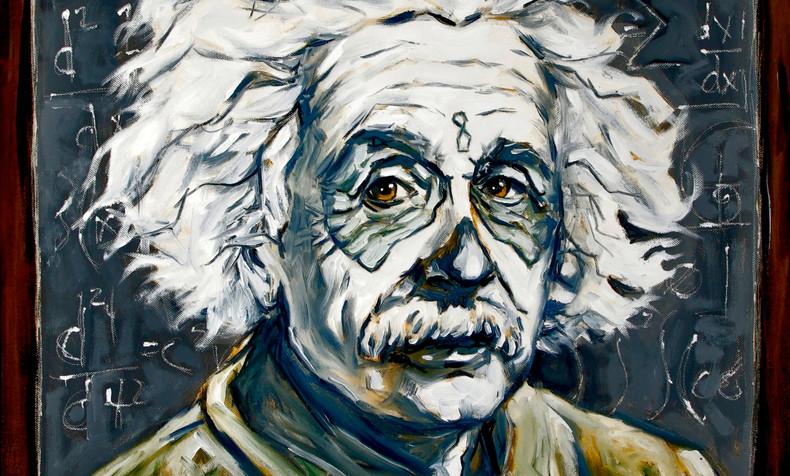 SOLD Albert Einstein, Dia de Los Muertos