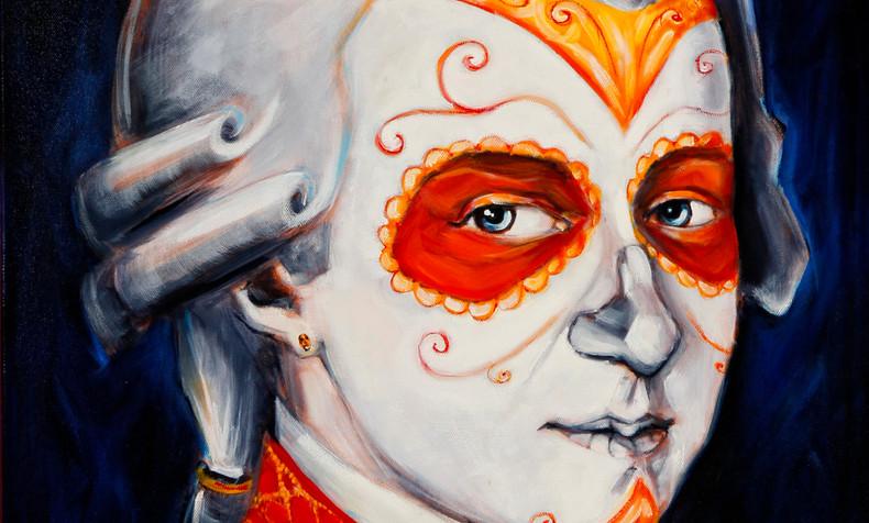 SOLD Wolfgang Amadeus Mozart, Dia de Los Muertos