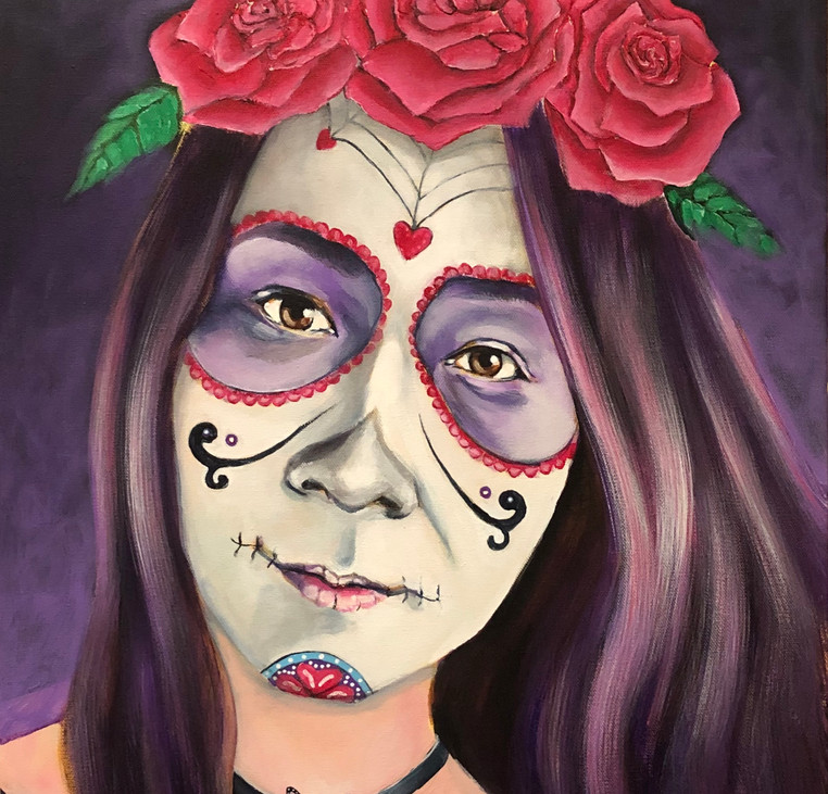 Commission: Client in Day of the Dead Makeup