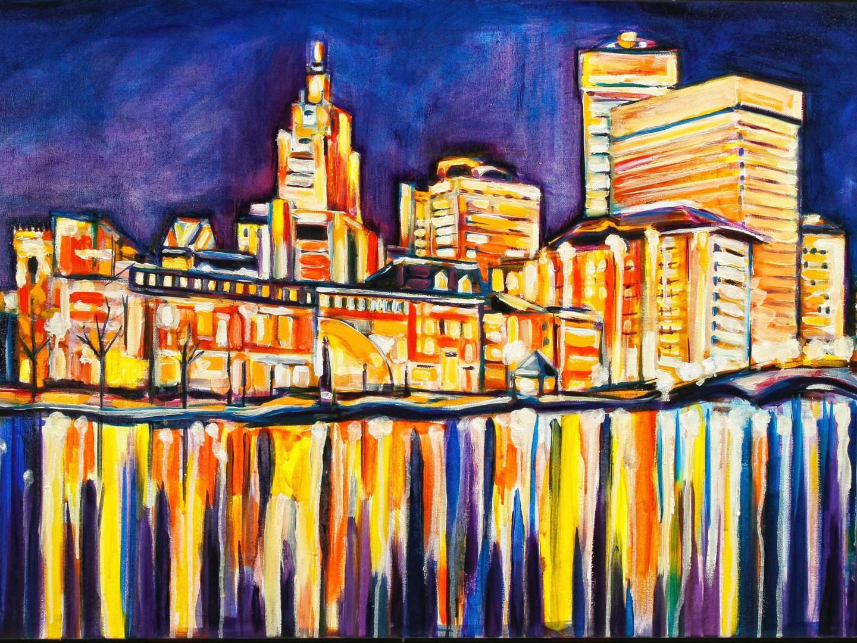 Down City Providence Skyline