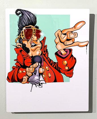 "Paul Morse's ""The King"" Metal Mounted Print 8""x10"""