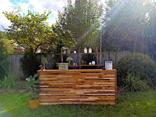 Gorgeous vintage bar... can you picture this in your backyard?