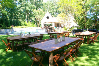 Amazing farm tables perfect for your casual, family style outdoor celebration!