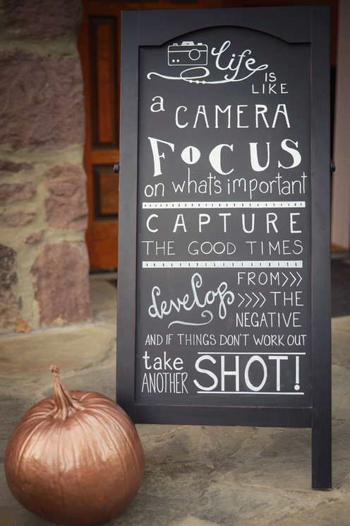 Amature photographer inspired 50th.  We totally agree!