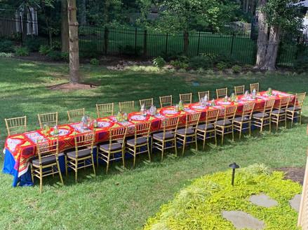 Egyptian Inspired Backyard Celebration