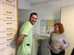 2018 Ana Teresa besucht Afonso, port. Krankenpfleger Arbeitsbereich Allgemeinstation