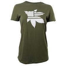 Green Military Tee- Women's