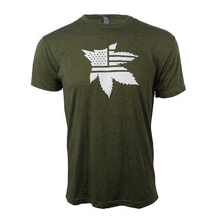 Green Military Tee- Men's
