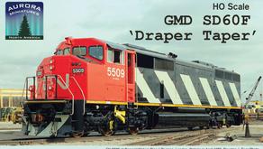 "Aurora Miniatures GMD SD60F ""Draper Taper"""