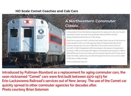 Rapidio Trains Comet Commuter Car - Agence Metropolitaine des Transports