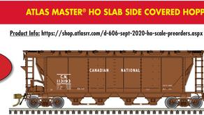 Atlas Canadian Slabside Covered Hoppers