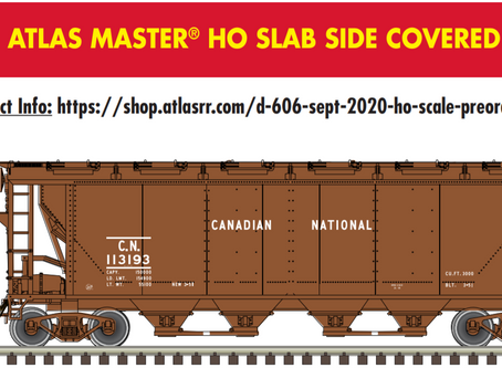 Atlas Canadian Slabside Covered Hoppers