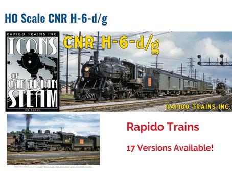 Rapido Trains HO Scale CNR Ten Wheeler Series