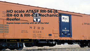 Rapido Trains HO scale AT&SF RR-56 (& RR-60 & RR-61) Mechanical Reefer