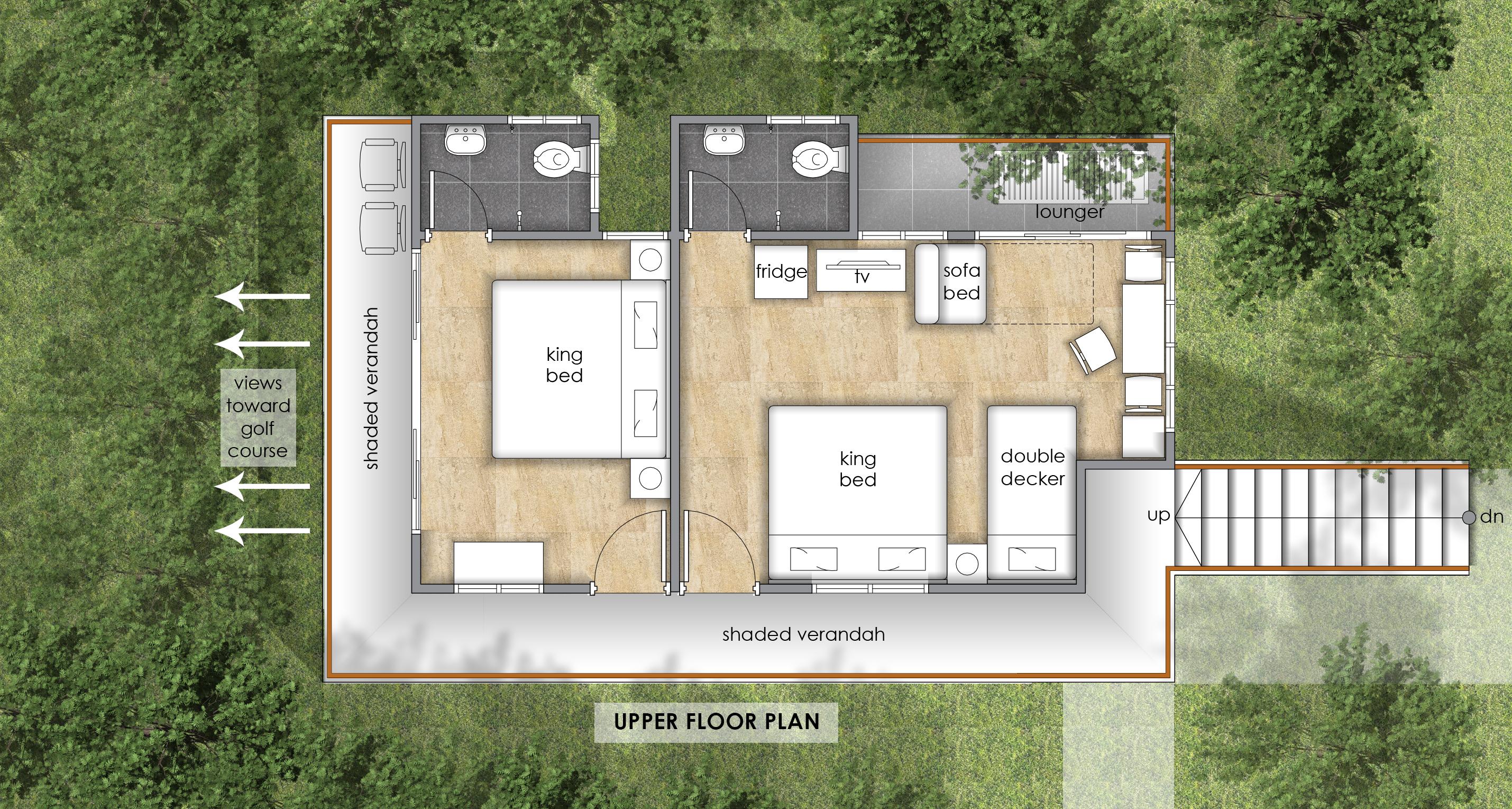 Golf-Facing Villa Upper Floor Plan