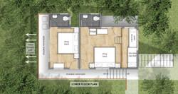 Golf-Facing Villa Lower Floor Plan