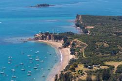 03 aerial shot of the coast of Waiheke I