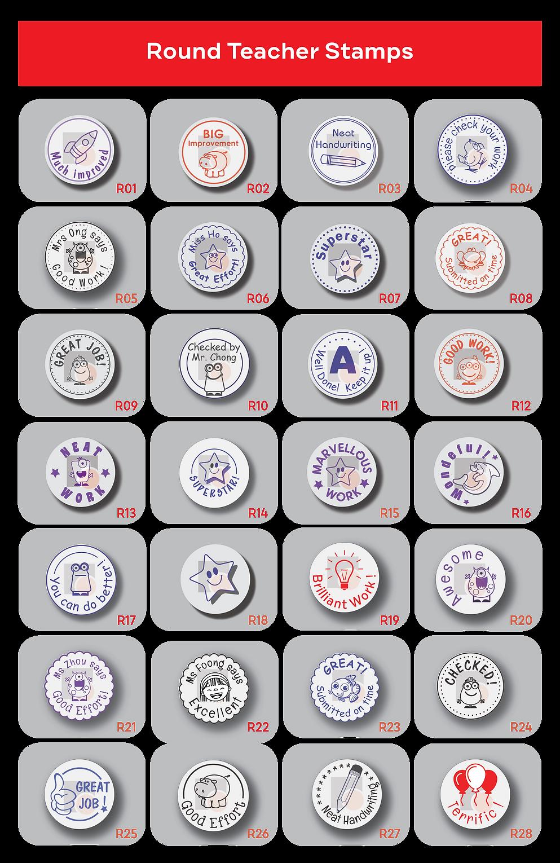 Stamps & Chops - Round Teacher Stamp