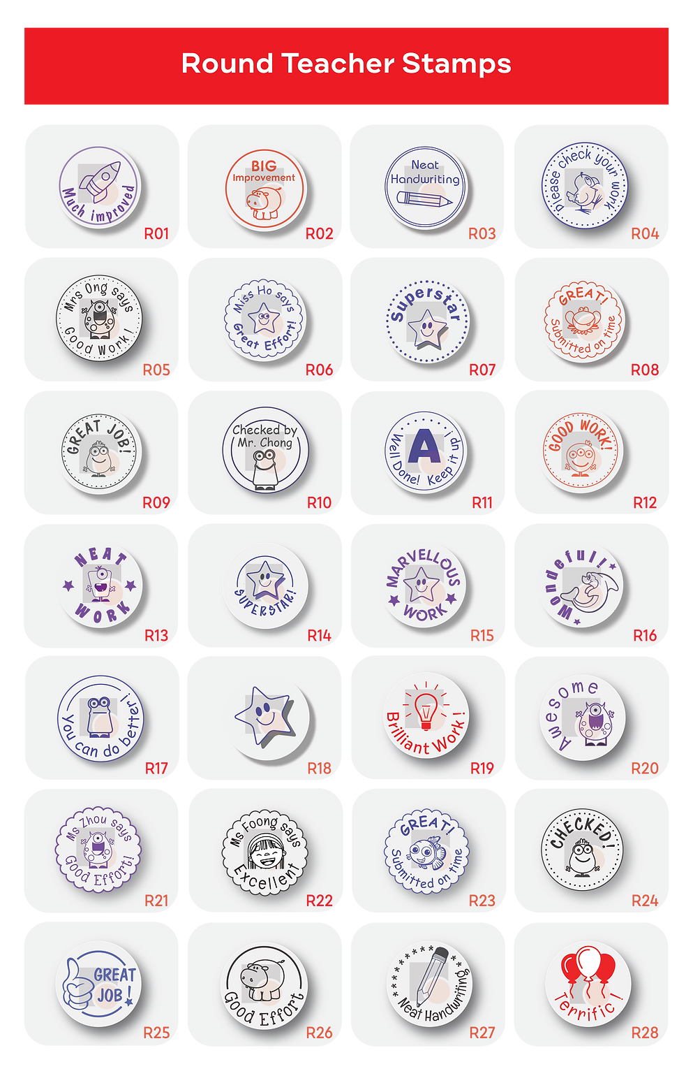 Stamps & Chops | Round Teacher Stamps