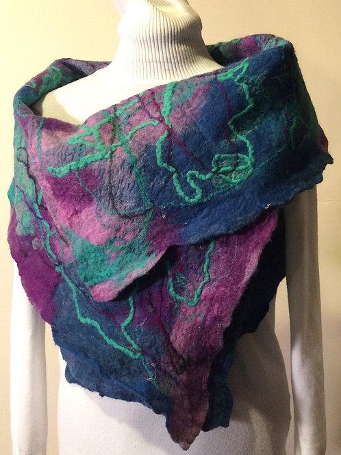 Beautiful Original multi colored nuno felted vest