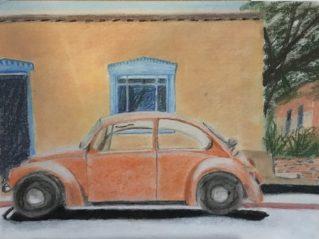 Memories - my first pastel painting