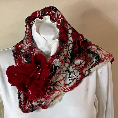 Red French style scarf
