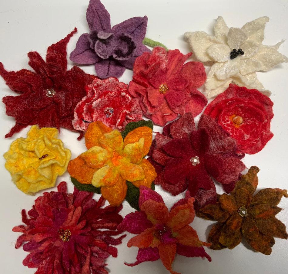 Wet Felting Flowers