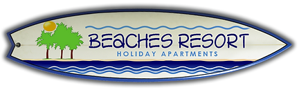 Beaches Resort Logo Surfboard