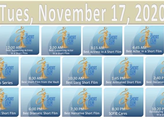 2020 TSFA SOFIE Awards Nov 17 Schedule.j