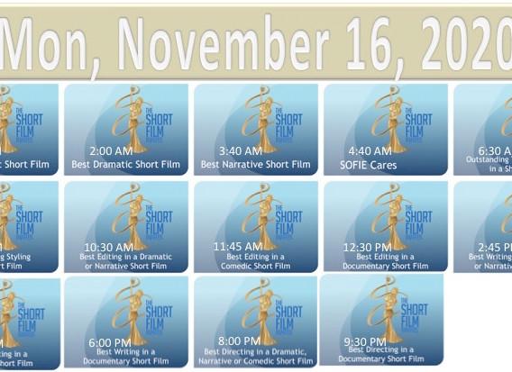 2020 TSFA SOFIE Awards Nov 16 Schedule.j