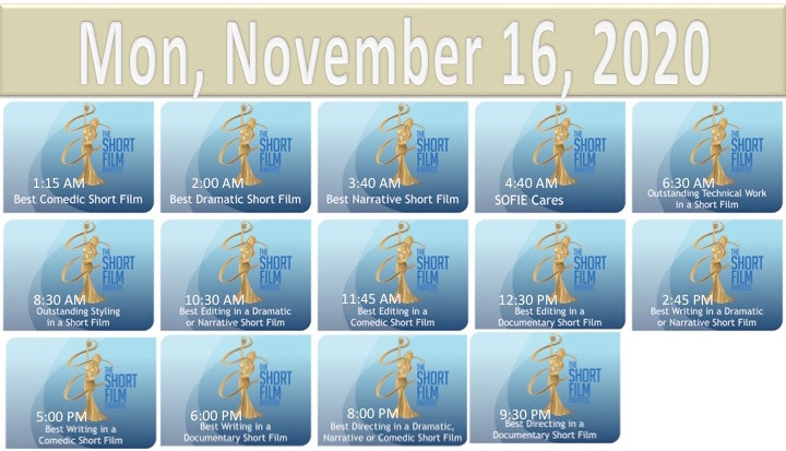 2020 TSFA SOFIE Awards Nov 16 Schedule.j
