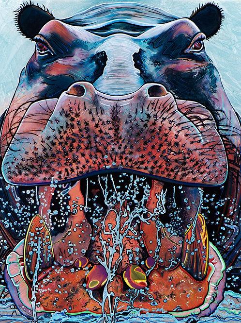 """Hippopotamus """"Fierce Creature"""" Series"""
