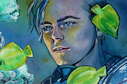Leonardo DiCaprio (Romeo & Juliet) Original Watercolor
